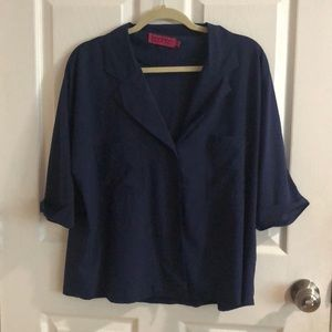 Navy Blue Collared Blouse